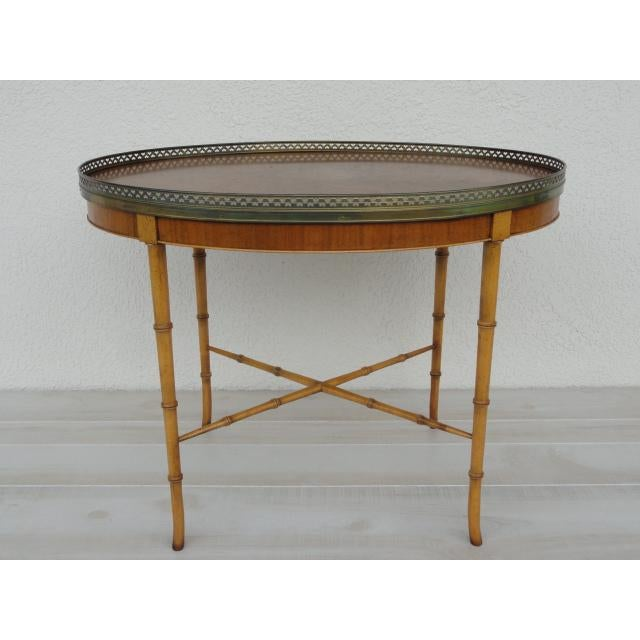 Asian 20th Century Chinoiserie Holland Salley Baker Furniture End Table For Sale - Image 3 of 13