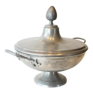Pewter Acorn Covered Serving Dish For Sale