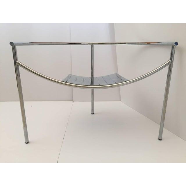 "Philippe Starck Doctor Sonderbar chrome three legs chair. Sculptural chromed steel chair entitled ""Doctor Sonderbar"" It..."