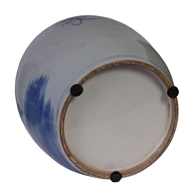 Ceramic Vintage Chinese Porcelain Lidded Jar For Sale - Image 7 of 8