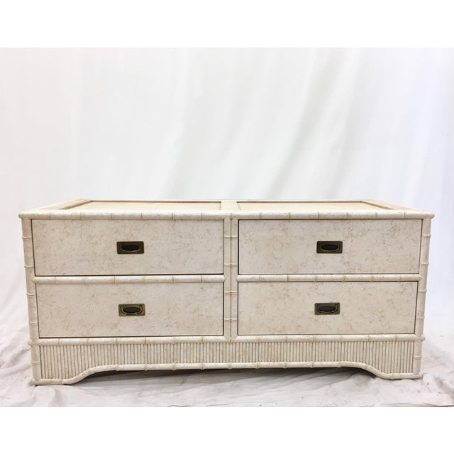 Faux Bamboo Dresser Cabinet by Ficks Reed - Image 4 of 11
