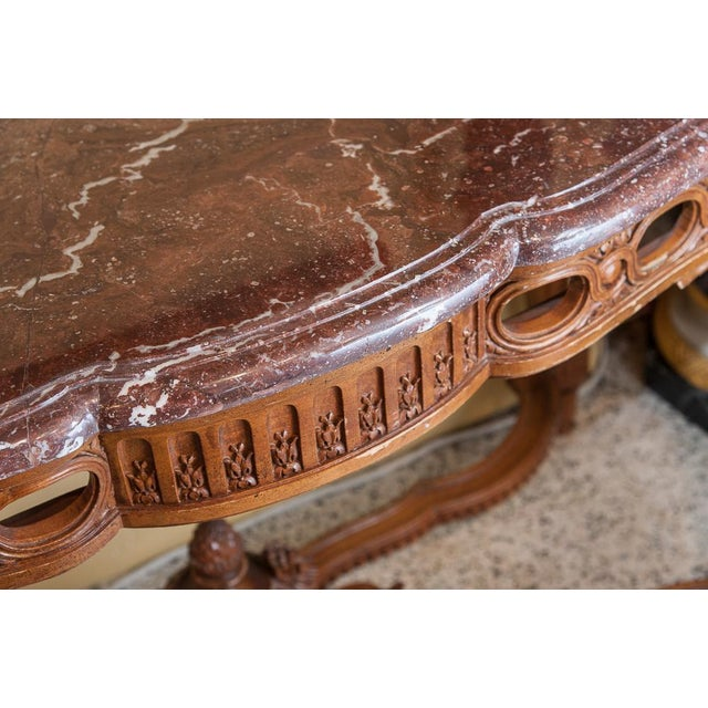 Late 19th Century Marble top console For Sale - Image 5 of 9