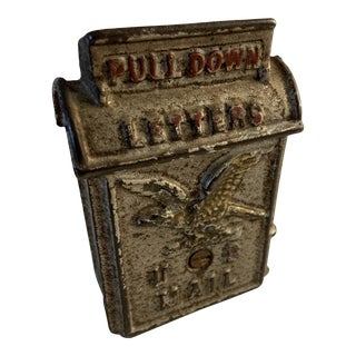 Antique Post Office Mail Box Still Bank For Sale