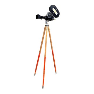 Arriflex Early 16mm Motion Picture Camera on Wood Tripod For Sale