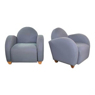 Michael Graves Postmodern Club or Lounge Chairs by David Edward Company 32 Avail For Sale