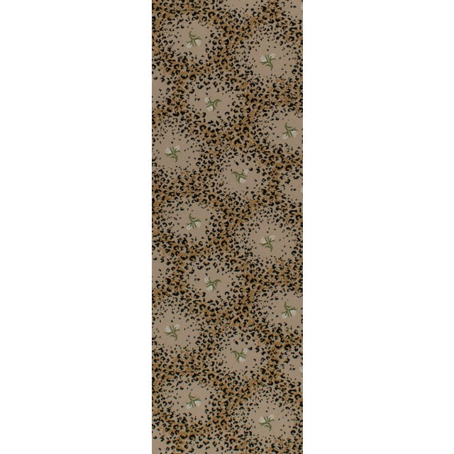 """Textile Limited Edition - White Leopard Rose Petite - 2'8"""" x 8'3"""" For Sale - Image 7 of 8"""