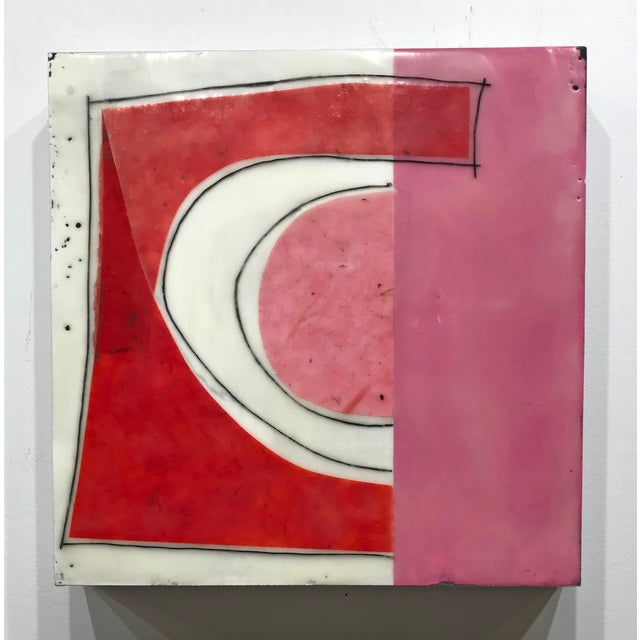 """Gina Cochran """"Perceptions No. 15"""" Encaustic Collage Painting For Sale In Washington DC - Image 6 of 8"""