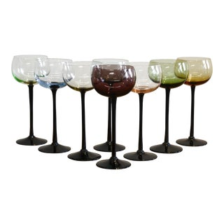 Multi-Color Wine Glasses, Set of 8 For Sale
