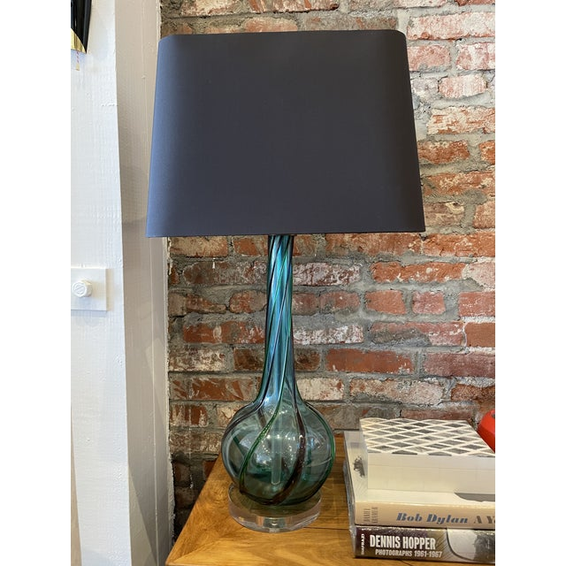 MCM Tricolor Twist Murano Lamp For Sale - Image 9 of 9