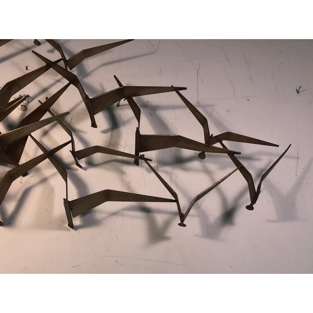 Mid-Century Modern Monumental Curtis Jere Flying Birds Wall Sculpture For Sale - Image 3 of 7