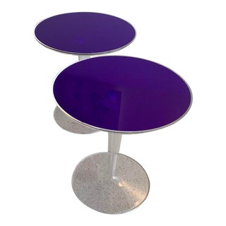Contemporary Kartell Tip Top Side Tables - A Pair For Sale