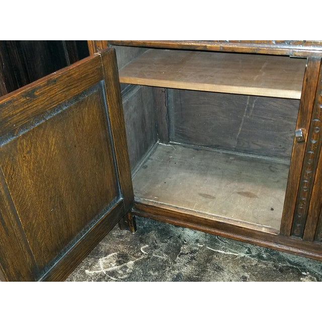 Brown English Oak Renaissance Revival Cabinet For Sale - Image 8 of 13