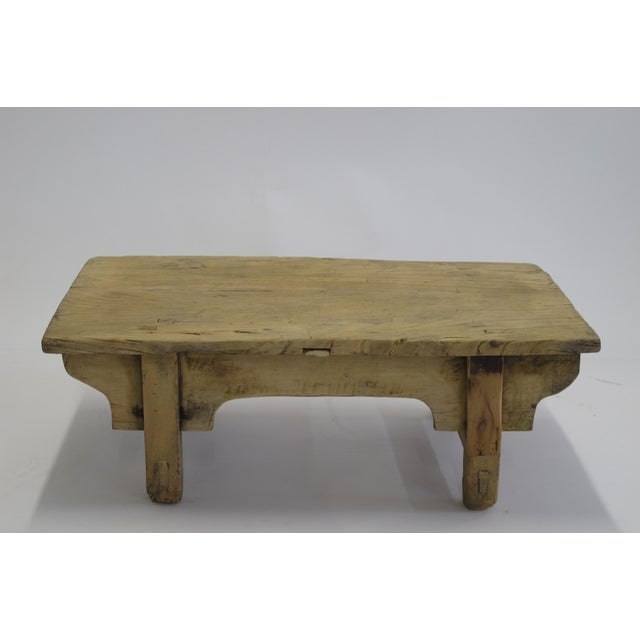 Small Rustic Kang Accent Table or Coffee Table For Sale In Boston - Image 6 of 7