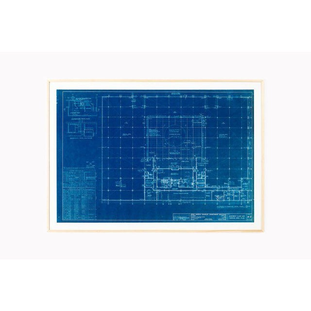 Wood Mies Van Der Rohe Blueprint - One Charles Center, Baltimore 1961 - Elevations For Sale - Image 7 of 13