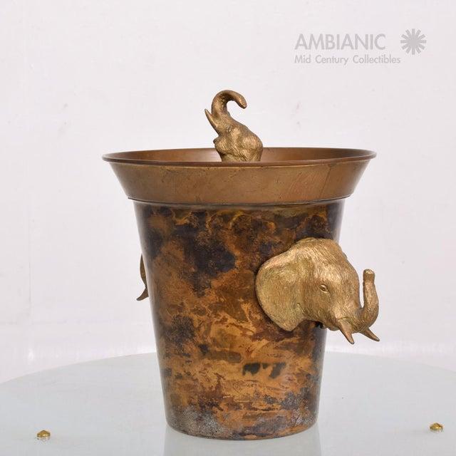 Hollywood Regency Elephant Ice Bucket For Sale - Image 4 of 8
