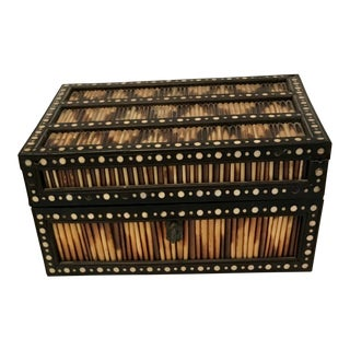 Late 19th Century Antique Porcupine Quill Box For Sale