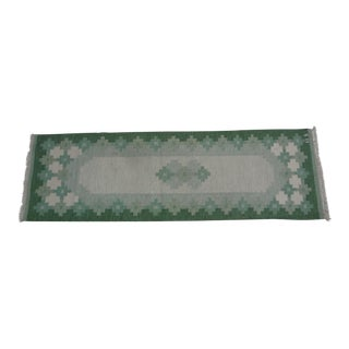 "Swedish Flat Weave Rug - 2'7"" X 8'5"" For Sale"