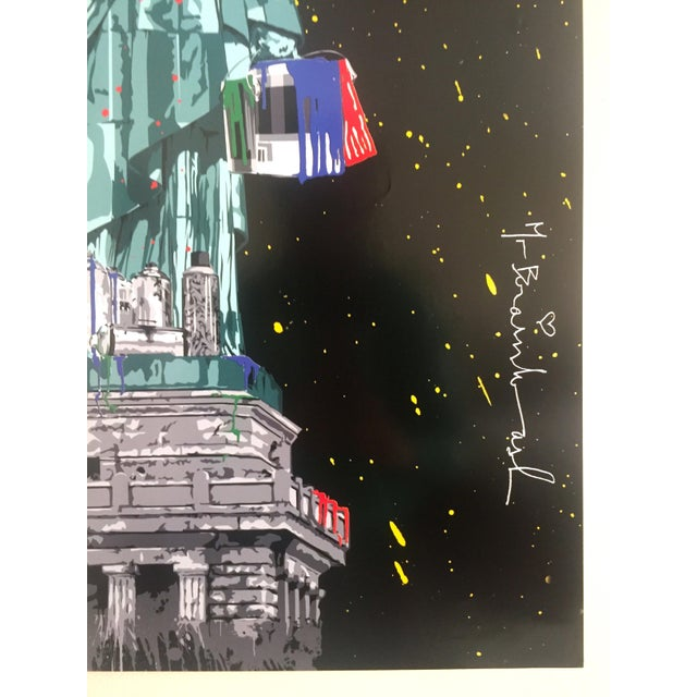 "2000 - 2009 Mr. Brainwash "" Statue of Liberty "" Authentic Lithograph Print Pop Art Poster For Sale - Image 5 of 12"