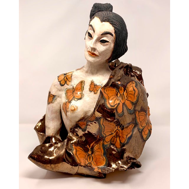 Late 20th Century Theo Samuels Japanese Woman Sculpture For Sale - Image 13 of 13
