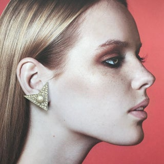 Modernist Triangular Earrings by Kenneth Jay Lane Preview