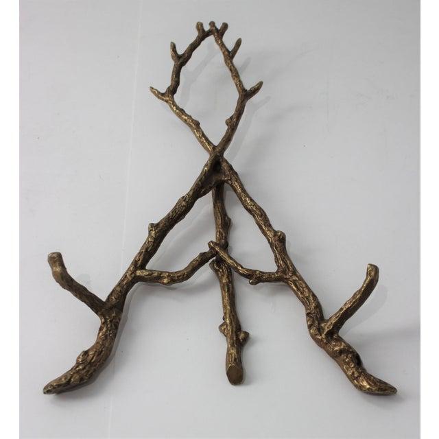 Vintage Tabletop Easel Bronze Twig Motif For Sale - Image 11 of 13