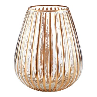 Ribbed Glass Luminary For Sale