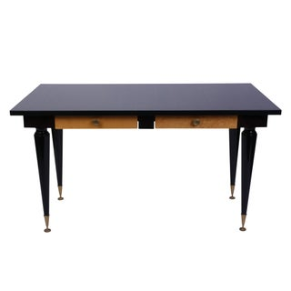 1930's French Art Deco Desk With Macassar Ebony Top For Sale