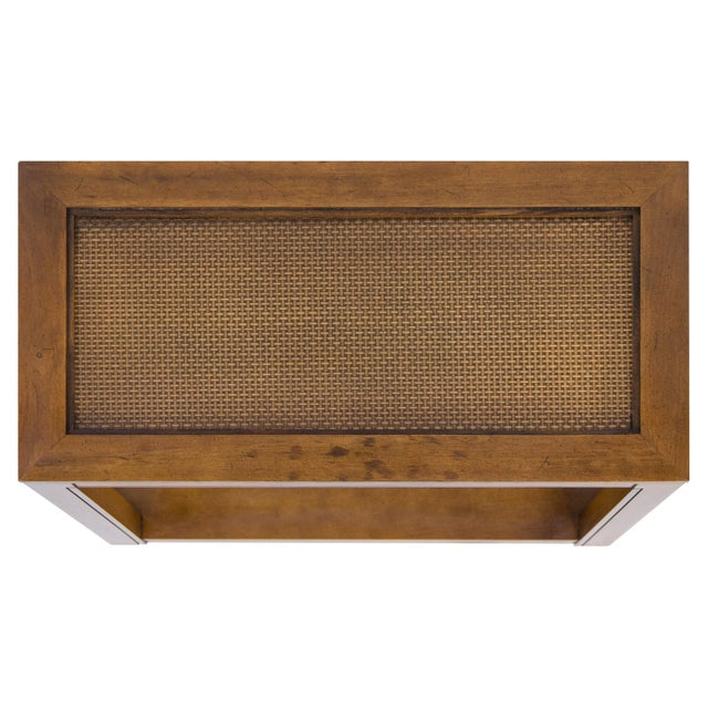 Vintage Caned Top Parsons Console Table For Sale In Chicago - Image 6 of 8