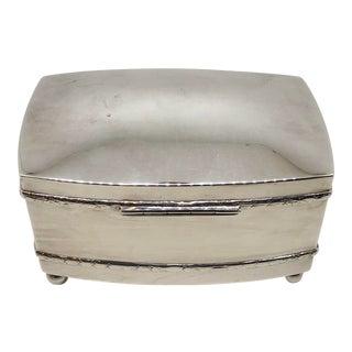 Vintage Silver Rectangular Box For Sale