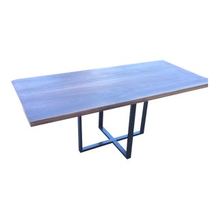 Contemporary Hardwood Table & Cube Base