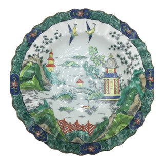 Antique Staffordshire Chinoiserie Bowl For Sale