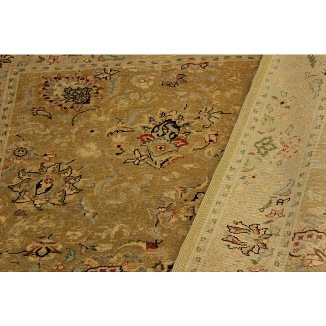 Semi Antique Istanbul Latrice Gold/Gray Turkish Hand-Knotted Rug -4'4 X 6'2 For Sale - Image 4 of 8