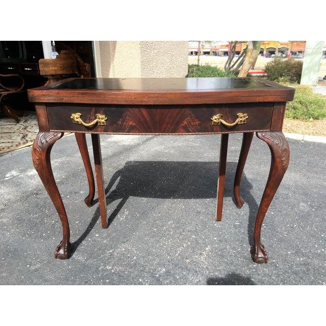 Mahogany & Leather Writing Desk - Image 7 of 9