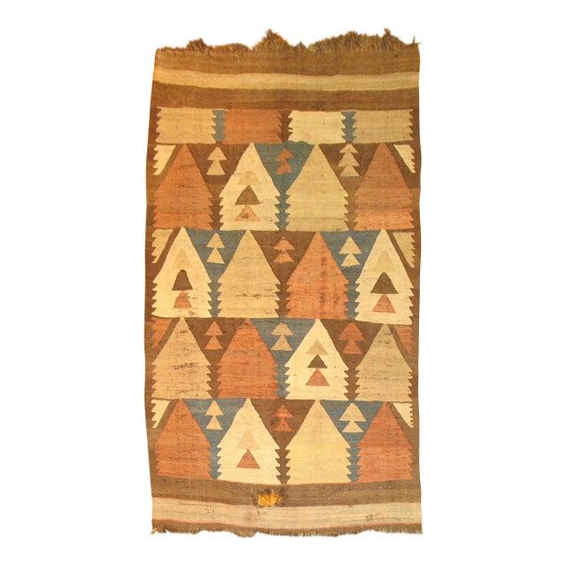 Vintage American Navajo Rug - 5′2″ × 9′5″ For Sale