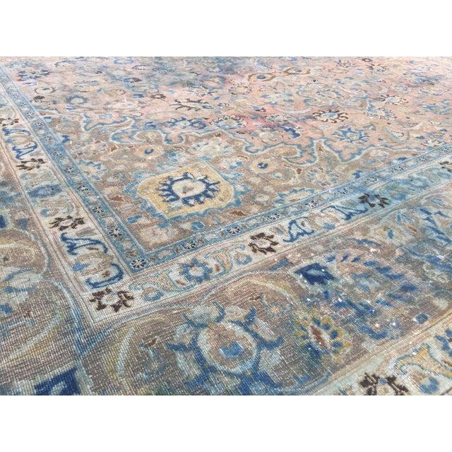 Persian Tribal Overize Handwoven Beige Floor Rug - 9′6″ × 12′5″ For Sale - Image 9 of 11