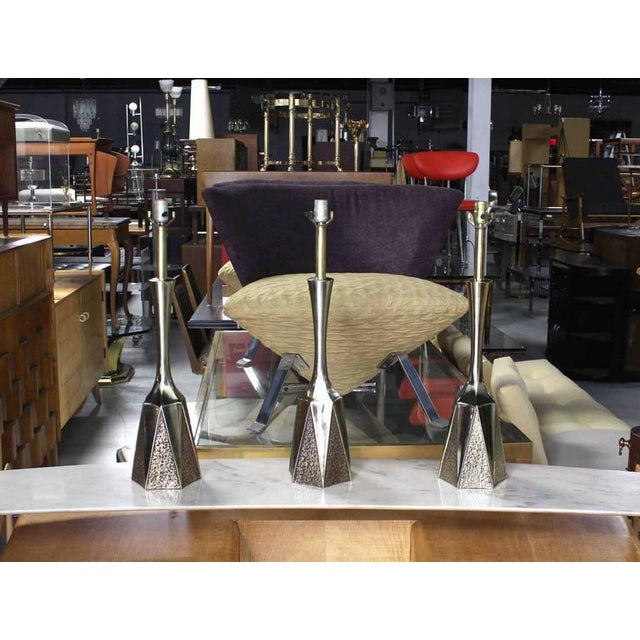 Set of Three Mid-Century Modern Table Lamps For Sale In New York - Image 6 of 6