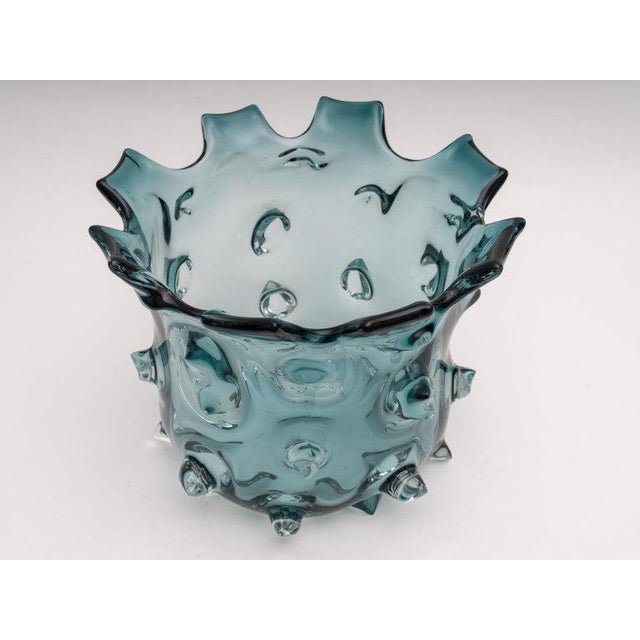 Murano 1960s Blue Murano Glass Vase by Barovier E Toso For Sale - Image 4 of 9