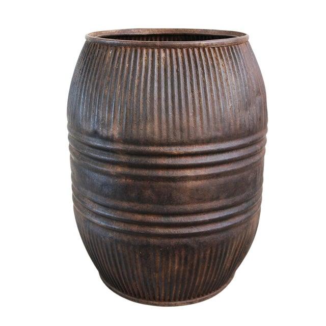 Vintage Iron Barrel For Sale - Image 4 of 4