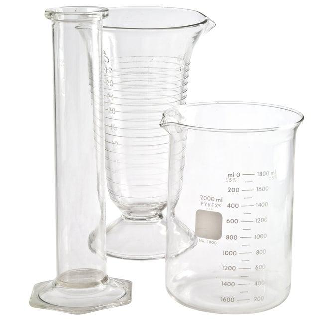 Vintage Lab Glass Flasks - Set of 3 - Image 2 of 2