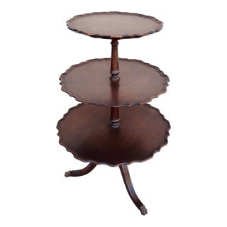 Ferguson 3 Tiered Mahogany Table For Sale