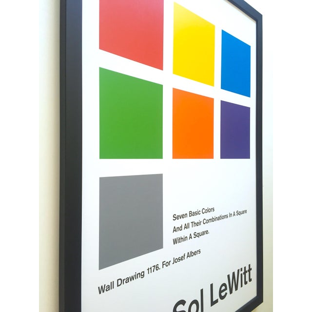 Sol LeWitt Lithograph Print Josef Albers Museum Framed Minimalist Exhibition Poster For Sale In Kansas City - Image 6 of 13