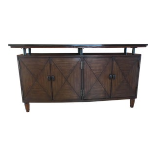 Marble Top Walnut Credenza For Sale
