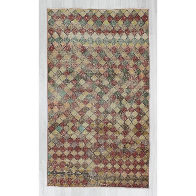 Vintage art deco rug from Isparta region of Turkey. In good condition. Approximately 50-60 years old.