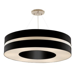 Matt Black and Brushed Nickel Pendant Light For Sale