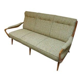 1940s Italian Sycamore Sofa For Sale