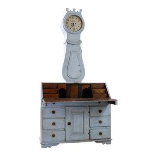 18th Century Painted Swedish Clock Desk For Sale