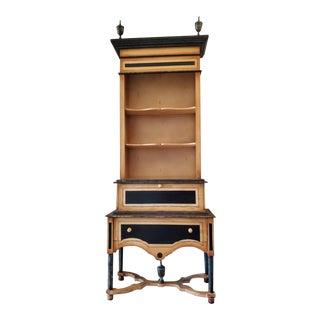Neoclassical Secretary Bookcase Cabinet For Sale