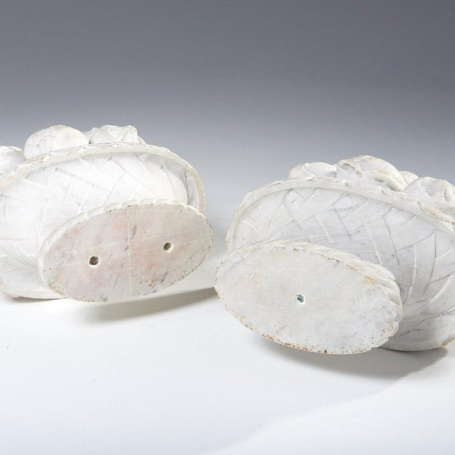 Italian Marble Fruit Baskets - a Pair For Sale In New York - Image 6 of 8