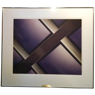 1980s Vintage Abstract Framed Photograph by Gary San Pietro For Sale