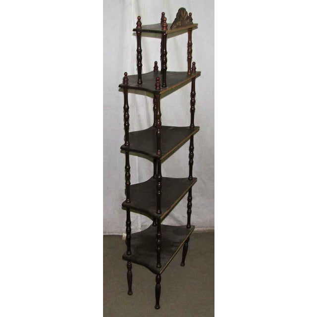 Dark Wooden 5 Tier Shelf - Image 9 of 10
